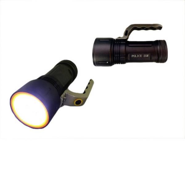 Torce con batterie ricaricabili - Berger & Schröter 20227 Lampada portatile a batteria Police Nero LED -