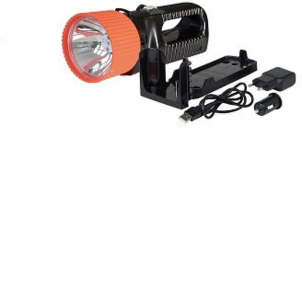 Torce con batterie ricaricabili - AccuLux 442181 Lampada portatile a batteria UniLux 7 Nero, Arancione LED 6 h -