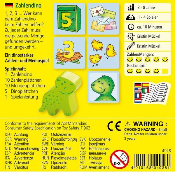 Giochi per bambini - Haba Zahlendino 0060401276 -