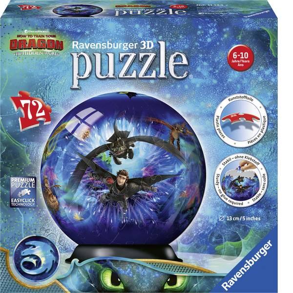 Puzzle - Ravensburger Dragons 3 3D Puzzle Ball 11144 -