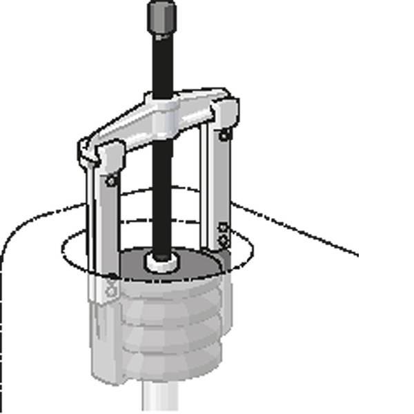 Estrattori - 1.06/AS - GEDORE - Set estrattore con 6 griffe 130x100/200/250 mm Gedore 8001710 -