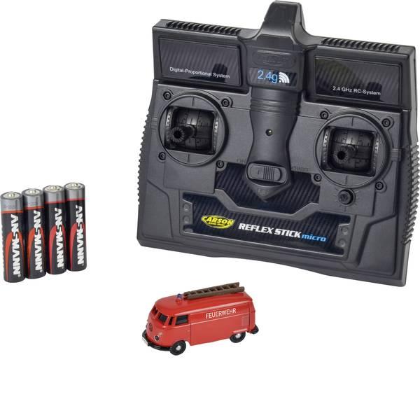 Mini auto radiocomandate elettriche - Carson Modellsport 500504120 VW Bus T1 Kastenwagen Feuerwehr 1:87 Automodello Elettrica Auto stradale Trazione  -
