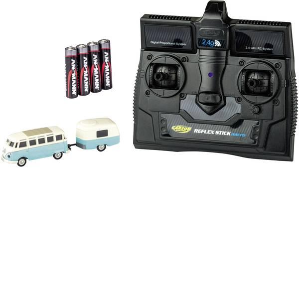 Mini auto radiocomandate elettriche - Carson Modellsport 500504122 VW Bus T1 Samba mit Anhänger 1:87 Automodello Elettrica Auto stradale Trazione posteriore  -