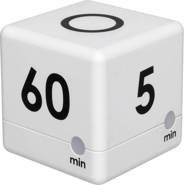 Timer - TFA Timer Cube Timer Bianco digitale -