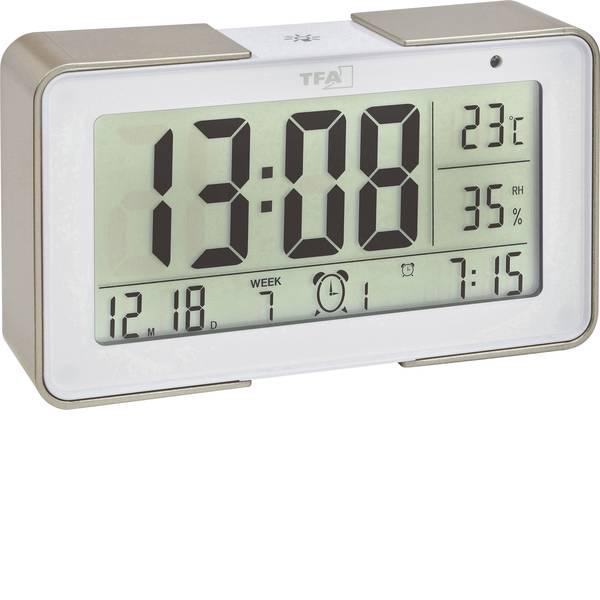 Sveglie - TFA 60.2540.53 Radiocontrollato Sveglia Oro, Bianco Tempi di allarme 3 -