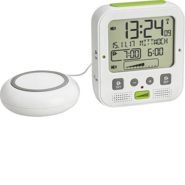 Sveglie - TFA 60.2538.02 Radiocontrollato Sveglia Bianco, Verde Tempi di allarme 2 -
