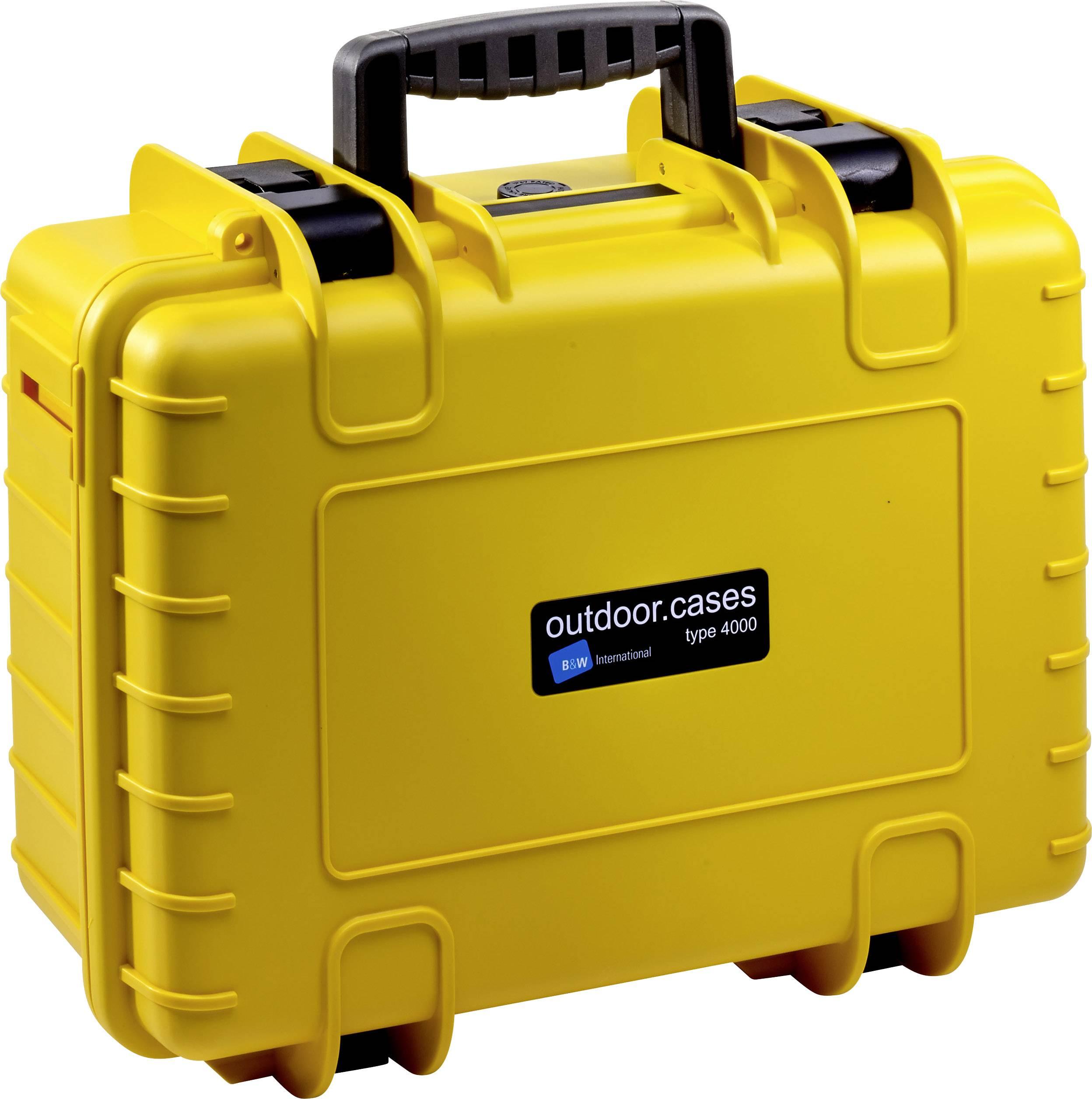 B & W Valigetta portaoggetti outdoor outdoor.cases Typ 4000 16.6 l (L x A x P) 420 x 180 x 325 mm Giallo 4000/Y/SI