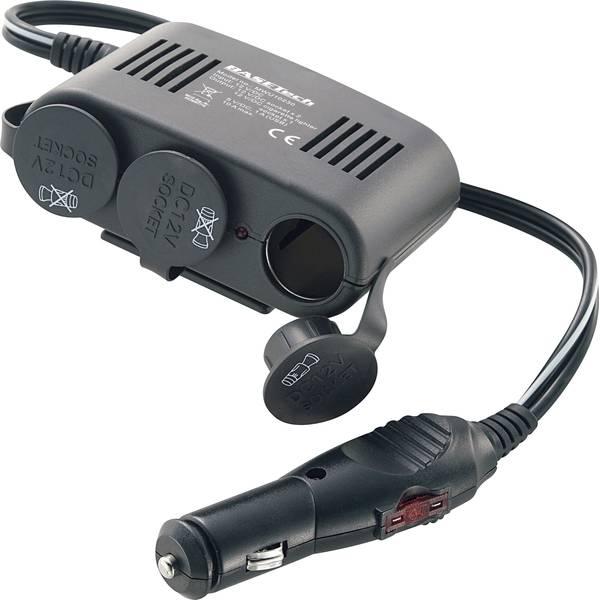 Multiprese per accendisigari - Distributore a 3 vie con USB Spina accendisigari Basetech -