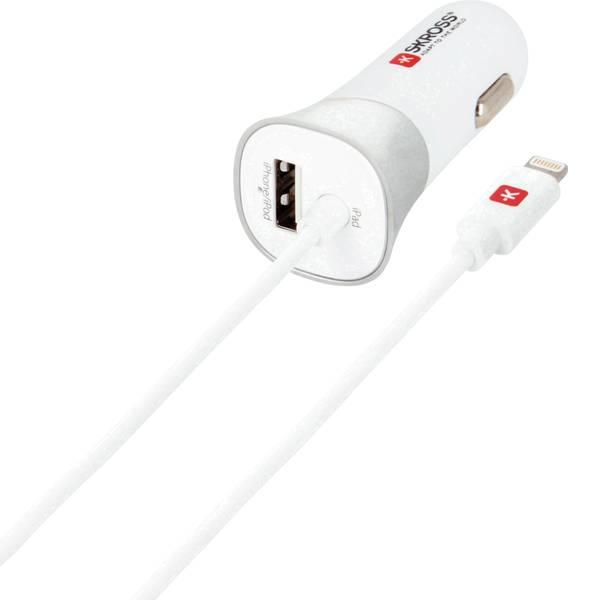 Accessori per presa accendisigari - Skross Caricabatterie USB per dispositivi mobili con collegamento Lightning nel veicolo -