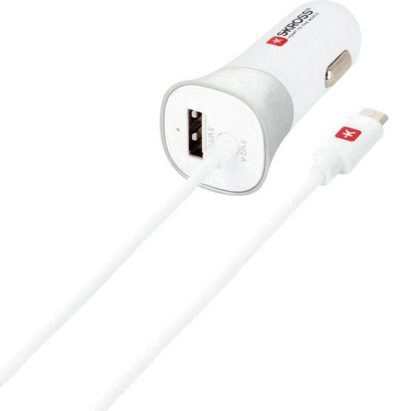 Accessori per presa accendisigari - Skross Caricabatterie USB per dispositivi mobili con collegamento micro USB nel veicolo -