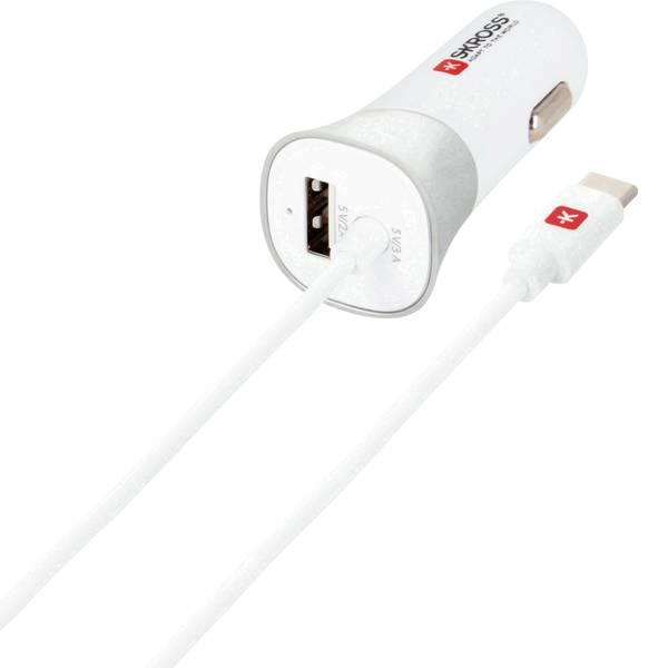 Accessori per presa accendisigari - Skross Caricabatterie USB per dispositivi mobili con collegamento Type-C nel veicolo -