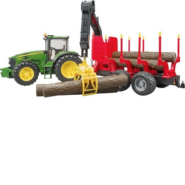 Veicoli agricoli - bruder John Deere 7930 mit Rückeanhänger -
