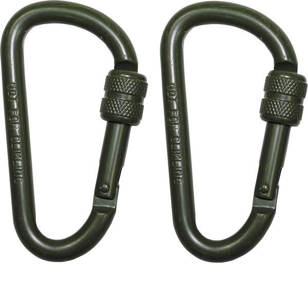 Tende e accessori - Moschettone MFH D8x80O 27536B 2 pz. -