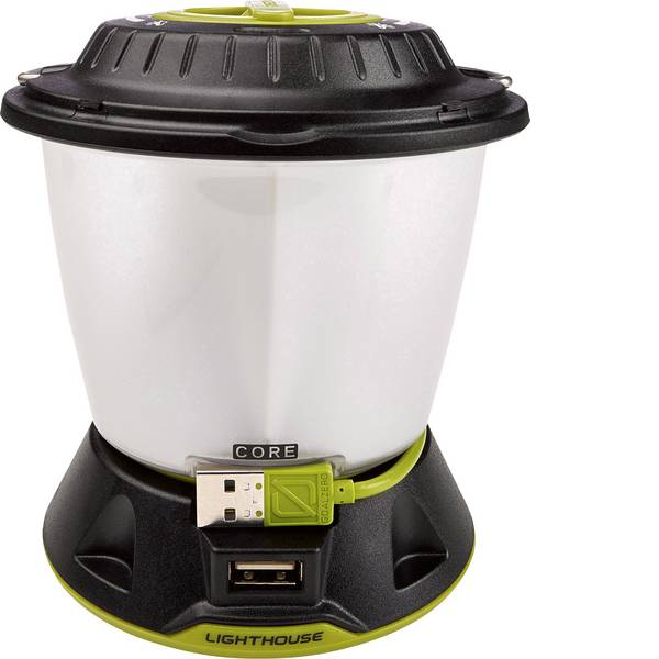 Lampade per campeggio, outdoor e per immersioni - LED Lanterna da campeggio Goal Zero Lighthouse Core 430 lm a batteria ricaricabile 350 g Nero Giallo 32009 -