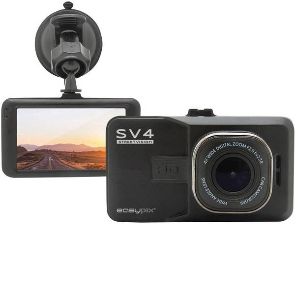 Dashcam - Easypix Streetvision SV4 Dashcam Max. angolo di visuale orizzontale=140 ° Display -