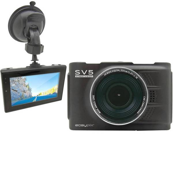 Dashcam - Easypix Streetvision SV5 Dashcam Max. angolo di visuale orizzontale=140 ° Display -