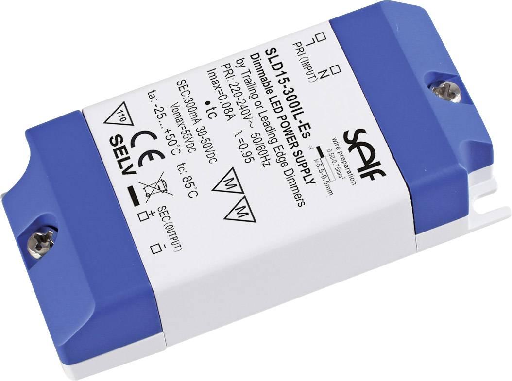 Self Electronics SLD15-300IL-ES Driver per LED Corrente costante 14.4 W 300 mA 24 - 48 V/DC dimmerabile, Sovratensione,