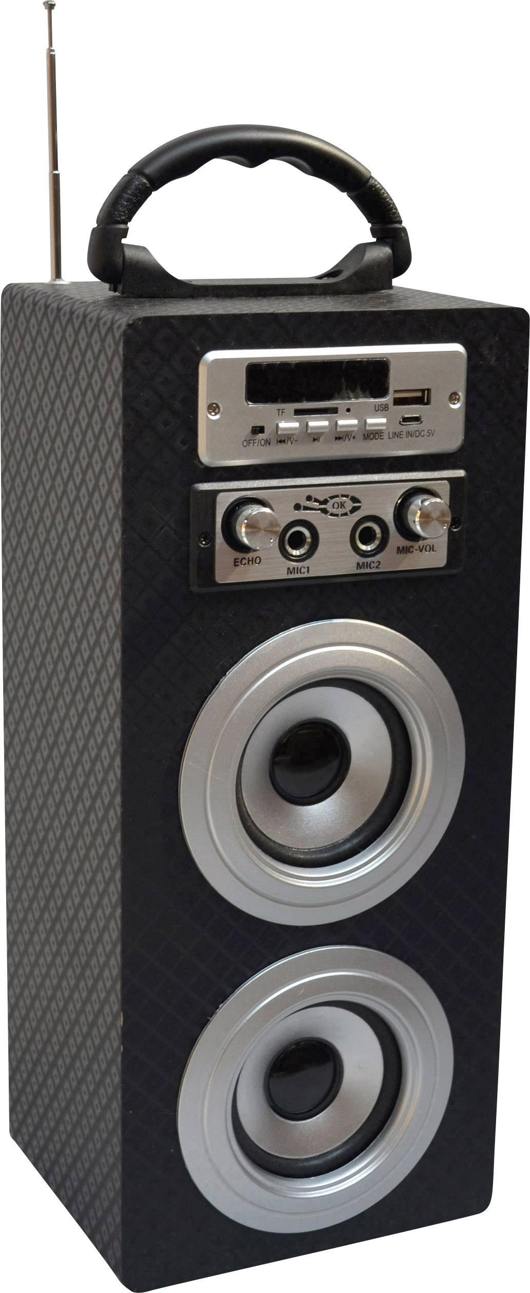 MSA Musikinstrumente KBQ33 Altoparlante Bluetooth AUX, Radio FM, SD, USB Carbone