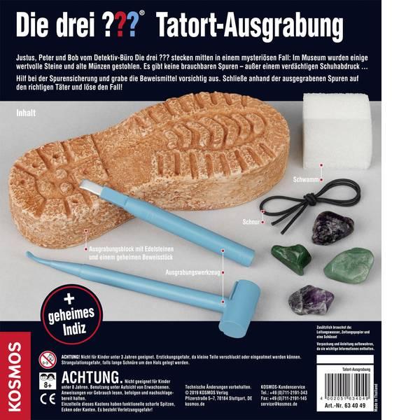 Kit esperimenti e pacchetti di apprendimento - Kit esperimenti Kosmos Die drei ??? Tatort-Ausgrabung 634049 da 8 anni -