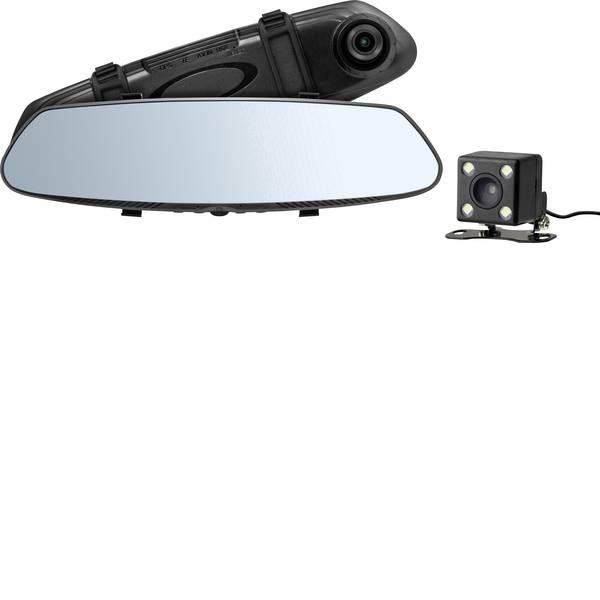Dashcam - Technaxx TX-124 Dashcam Max. angolo di visuale orizzontale=90 ° Specchietto retrovisore, Telecamera retrovisone -