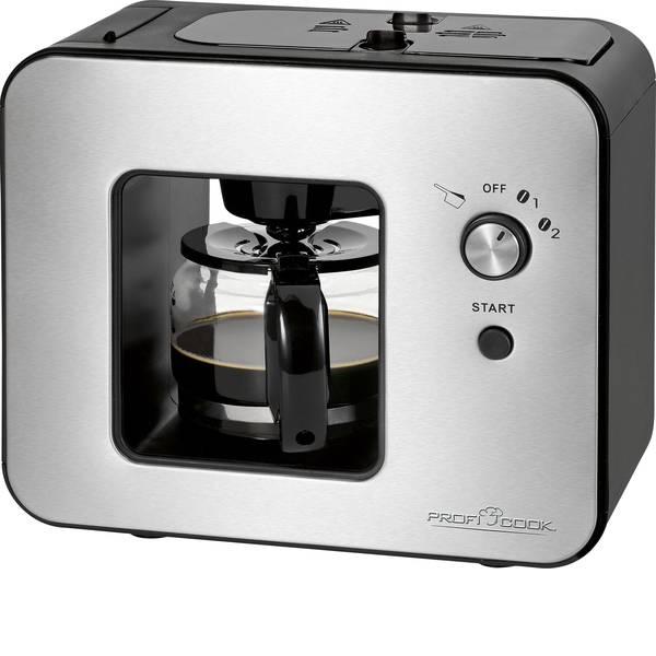 Macchine dal caffè con filtro - Profi Cook PC-KA 1152 Macchina per il caffè Acciaio, Nero Capacità tazze=5 Con macina caffè -