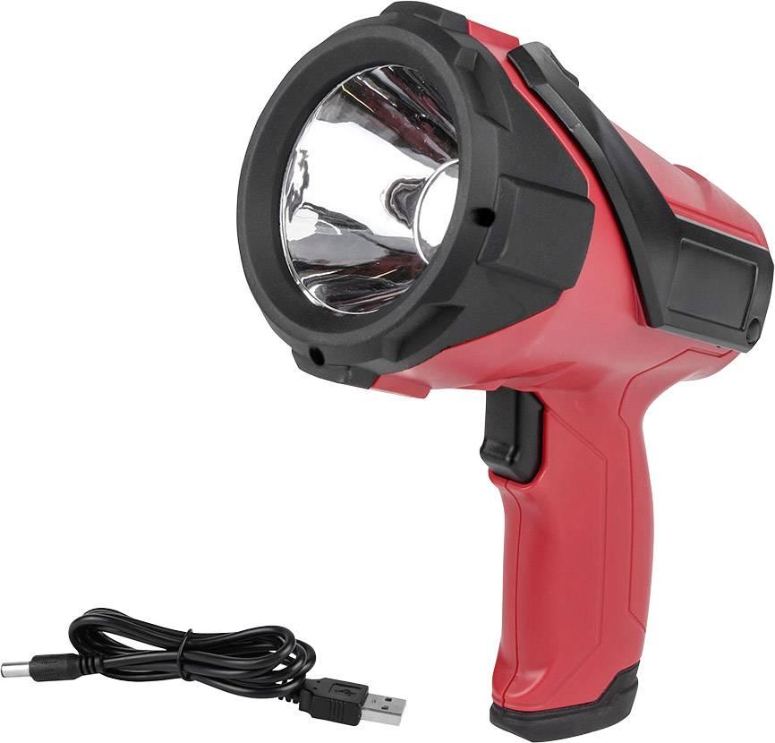 Eufab 13491 Lampada portatile a batteria LED 3W Nero, Rosso LED 2.5 h