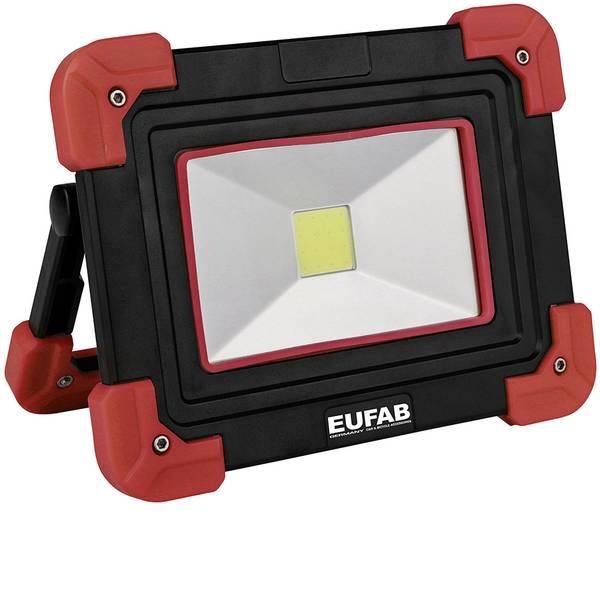 Torce con batterie ricaricabili - Eufab 13492 Lampada da lavoro COB/LED 5W Nero, Rosso LED 4 h -
