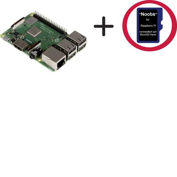 Schede di sviluppo e Single Board Computer - Raspberry Pi® 3 B+ RP 3B+ incl. 16GB Noobs 1 GB 4 x 1.4 GHz incl. Noobs OS Raspberry Pi® -