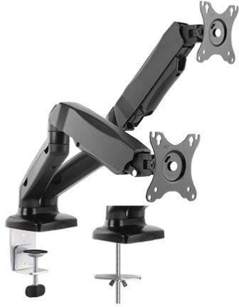 ICY BOX IB-MS304-T 2 scomparti Supporto da tavolo per monitor 25,4 cm (10) - 68,6 cm (27) Inclinabile, Girevole,