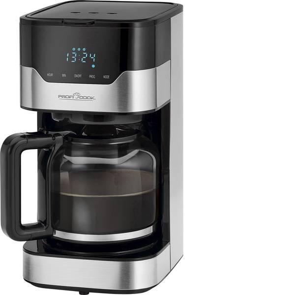 Macchine dal caffè con filtro - Profi Cook PC-KA 1169 Macchina per il caffè Acciaio, Nero Capacità tazze=14 Caraffa in vetro -