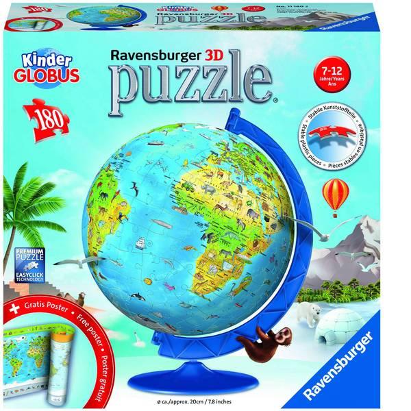 Puzzle - Ravensburger Kinderglobus in deutscher Sprache 3D Puzzle-Ball 11160 -