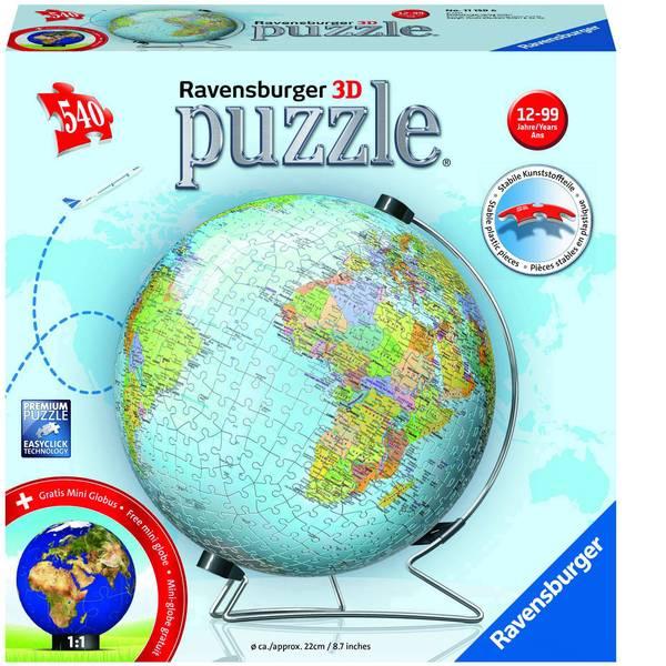 Puzzle - Ravensburger Globus in deutscher Sprache 3D Puzzle-Ball 11159 -