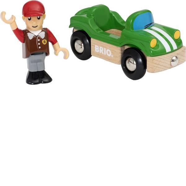 Trenini e binari per bambini - Brio Sportwagen mit Fahrer 63393700 -