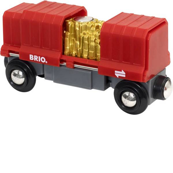 Trenini e binari per bambini - Brio Container Goldwaggon 63393800 -