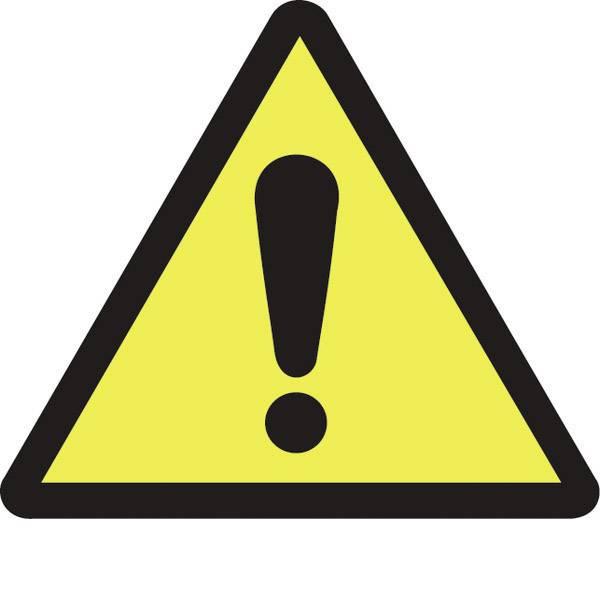 Targhette di avvertenza - Segnale di pericolo Segnale di pericolo generico Plastica 100 pz. -