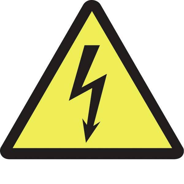 Targhette di avvertenza - Segnale di pericolo AVVERTENZA tensione elettrica Plastica 100 pz. -
