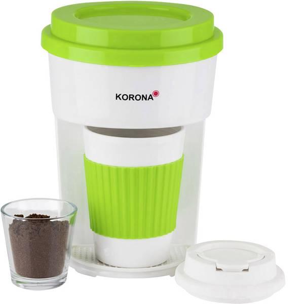 Macchine dal caffè con filtro - Korona 12203 ToGo Macchina per il caffè Verde, Bianco -