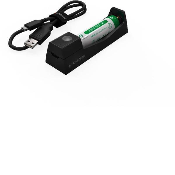Accessori per torce portatili - Caricatore USB 14500 Batteria ricaricabile agli ioni di litio, MH3, MH4, MH5 Ledlenser 500986 -