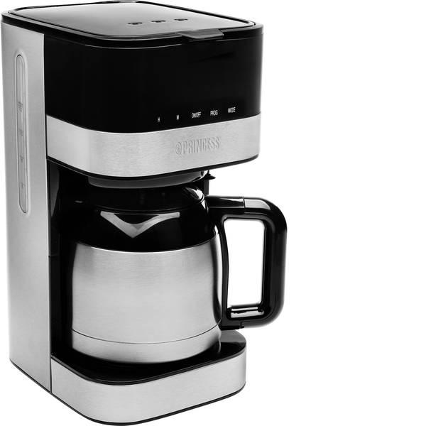 Macchine dal caffè con filtro - Princess Lucca ISO Macchina per il caffè Argento, Nero Capacità tazze=12 Isolato, Display -
