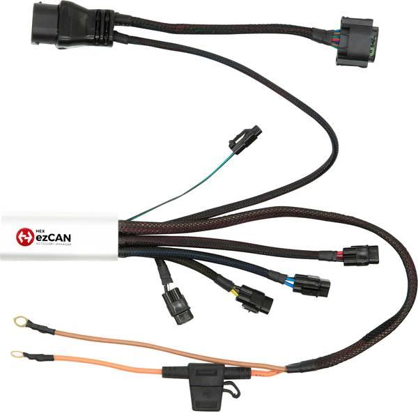 Accessori comfort per auto - Manager 4 canali per accessori HEX ezCAN BMW R1200 76 mm x 30 mm x 16 mm con connettore Micro-USB -