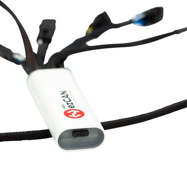 Accessori comfort per auto - Manager 4 canali per accessori HEX ezCAN BMW R1200 LC & R1250 76 mm x 30 mm x 16 mm con connettore Micro-USB -