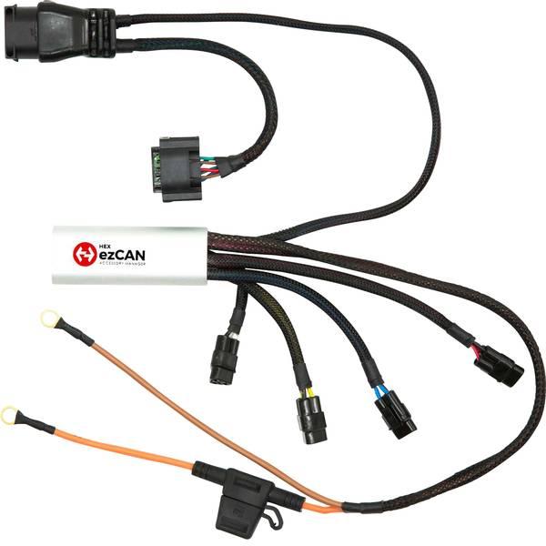 Accessori comfort per auto - Manager 4 canali per accessori HEX ezCAN BMW K1600, F750, F850 & S1000 X 76 mm x 30 mm x 16 mm con connettore Micro-USB -