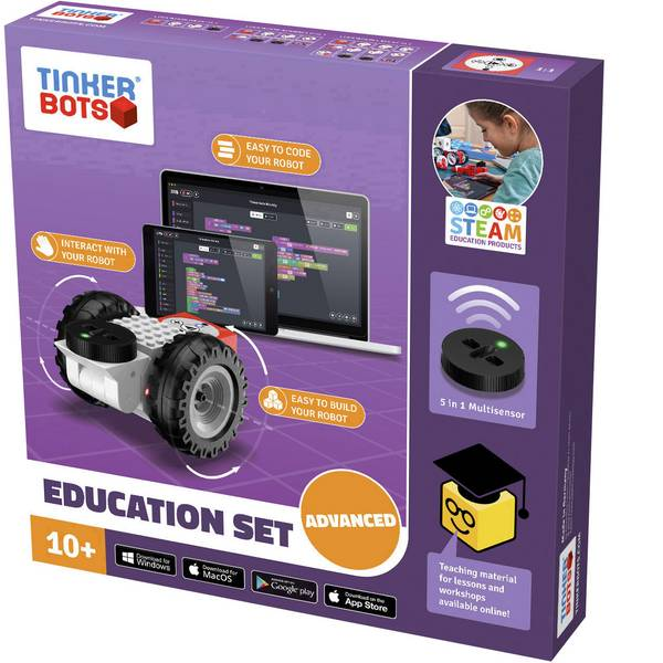 Robot in kit di montaggio - TINKERBOTS Robot in kit da montare Education Advanced Set -