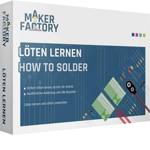 Kit esperimenti e pacchetti di apprendimento - MAKERFACTORY 15055 Löten lernen Pacchetto di apprendimento da 14 anni -