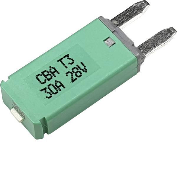 Fusibili per auto - Interruttore automatico fusibile piatto standard 30 A Verde Hansor Circuit Breaker Mini, type 3. Manual Reset, 30A CBA3  -