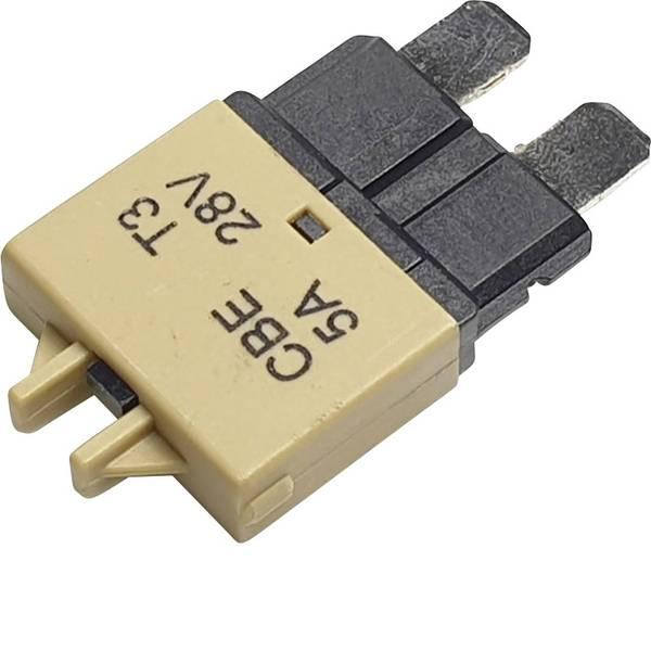 Fusibili per auto - Interruttore automatico fusibile piatto standard 5 A Marrone chiaro Hansor Circuit Breaker Standard, type 3, Manual  -
