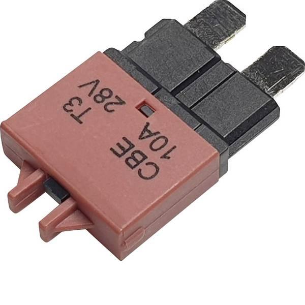 Fusibili per auto - Interruttore automatico fusibile piatto standard 10 A Rosso Hansor Circuit Breaker Standard, type 3, Manual Reset, 10A  -