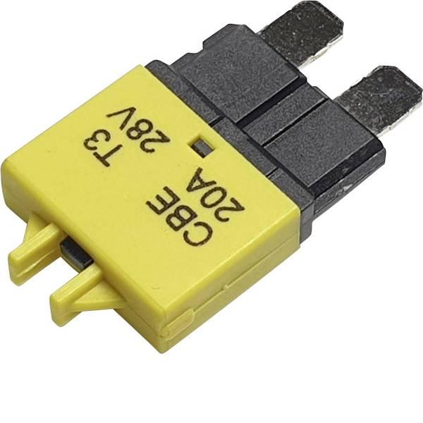 Fusibili per auto - Interruttore automatico fusibile piatto standard 20 A Giallo Hansor Circuit Breaker Standard, type 3, Manual Reset, 20A  -
