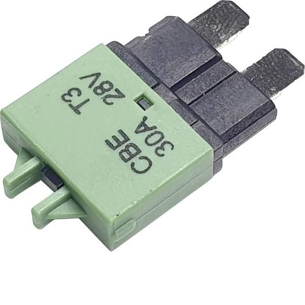Fusibili per auto - Interruttore automatico fusibile piatto standard 30 A Verde Hansor Circuit Breaker Standard, type 3, Manual Reset, 30A  -