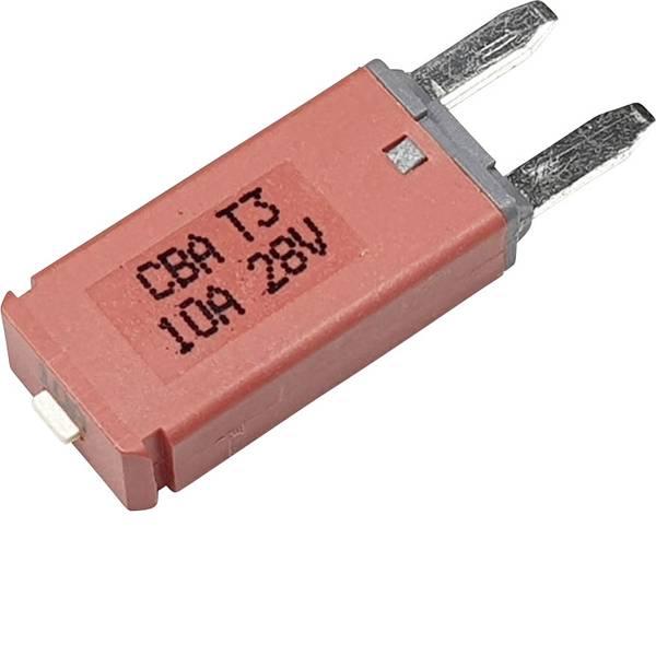 Fusibili per auto - Interruttore automatico fusibile piatto standard 10 A Rosso Hansor Circuit Breaker Mini, type 3. Manual Reset, 10A CBA3  -